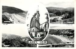 LAXEY, I.O.M.  5 insets  LAXEY BEACH/OLD LAXEY/THE BIG WHEEL/LAXEY GLEN/ GENERAL VIEW