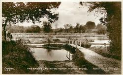 THE BRIDGE AND RIVER ITCHEN