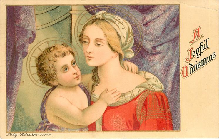 A JOYFUL CHRISTMAS  Madonna & child