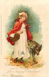 LITTLE RED - RIDING HOOD, WITH ALL GOOD WISHES FOR A HAPPY CHRISTMAS