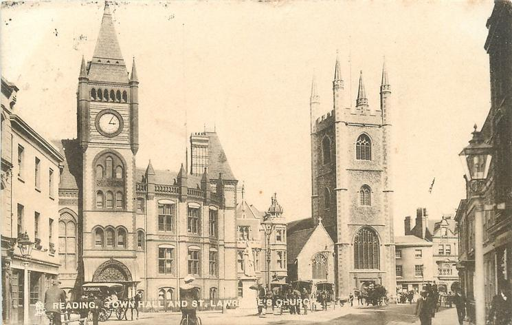 TOWN HALL AND ST. LAWRENCE CHURCH