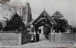 BARNES CHURCH AND LYCH GATE, LYCH GATE BUILT TO COMMEMORATE THE CORONATION