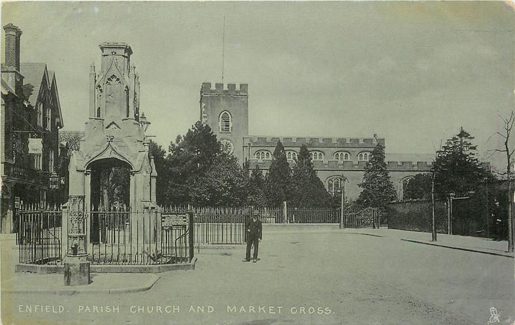 PARISH CHURCH AND MARKET CROSS