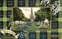 THE SCOTT MONUMENT  GORDON tartan