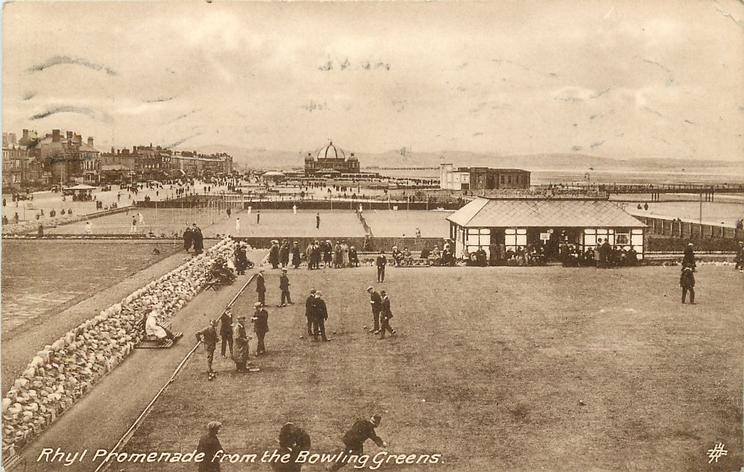 RHYL PROMENADE FROM THE BOWLING GREENS