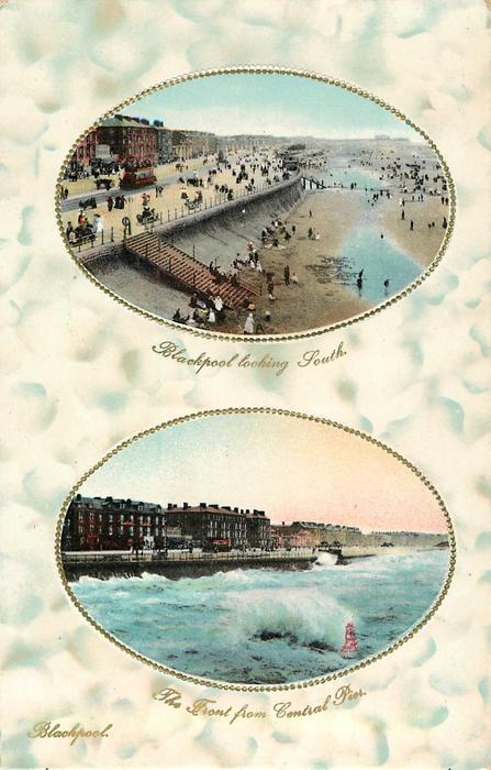 BLACKPOOL LOOKING SOUTH// THE FRONT FROM CENTRAL PIER