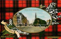 PRINCES STREET LOOKING EAST  ROBERTSON tartan