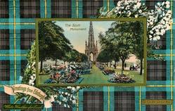 THE SCOTT MONUMENT  GORDON blue & purple tartan