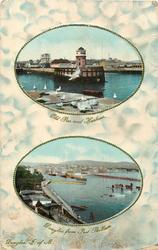 2 insets OLD PIER & HARBOUR/DOUGLAS FROM PORT SKILLION