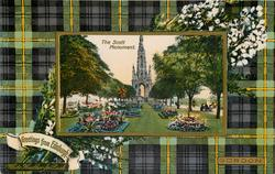 THE SCOTT MONUMENT GORDON green & grey tartan