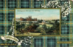 KELVINGROVE PARK AND ART GALLERIES  GORDON tartan