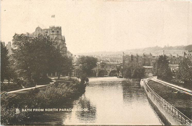 BATH FROM NORTH PARADE BRIDGE