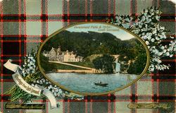 INVERSNAID FALLS & HOTEL  MACPHERSON HUNTING tartan