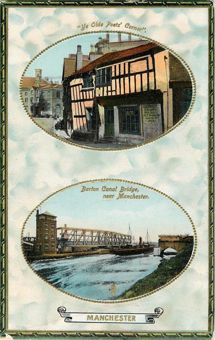 YE OLD POETS CORNER'/BARTON CANAL BRIDGE NEAR MANCHESTER