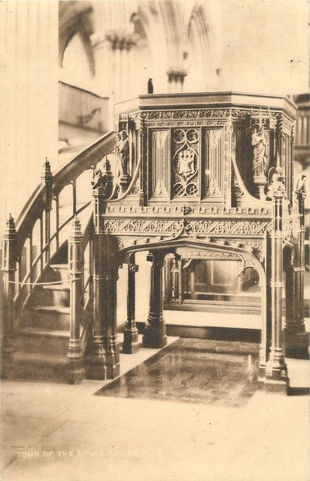 TOMB OF THE BRUCE UNDER PULPIT