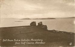 BELL HOUSE ROCK & INCHCOLM MONASTERY FROM GOLF COURSE