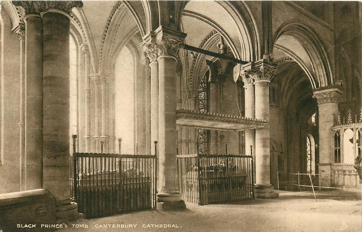 BLACK PRINCE'S TOMB, CANTERBURY CATHEDRAL
