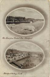 THE FRONT FROM CENTRAL PIER// BLACKPOOL LOOKING SOUTH