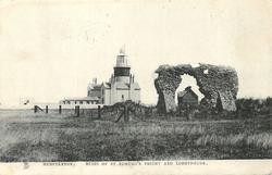 RUINS OF ST. EDMUND'S PRIORY AND LIGHTHOUSE