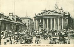 THE BANK OF ENGLAND AND ROYAL EXCHANGE