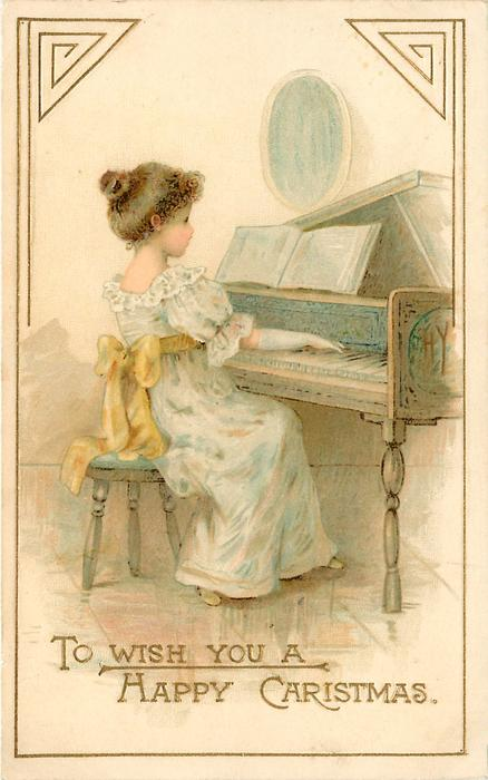 TO WISH YOU A HAPPY CHRISTMAS  girl plays piano