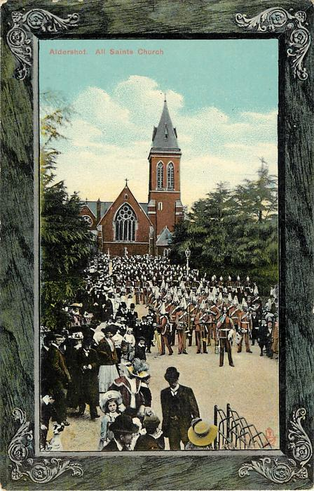 ALL SAINTS CHURCH behind military parade