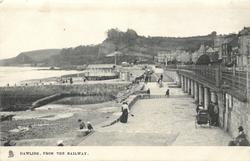 FROM THE RAILWAY  sea to left, promenade to right