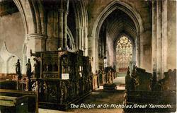 THE PULPIT AT ST. NICHOLAS