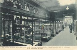 FIRST EGYTPTIAN ROOM. SHOWING MUMMY CASES, THE FUNERAL PROCESSION, AND THE PERFORMANCE OF THE LAST RITES ATTHE TOMB