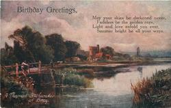 BIRTHDAY GREETINGS, A THAMES BACKWATER AT BRAY