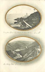 2 insets  DOUGLAS HEAD LIGHTHOUSE & PORT SKILLION//IN SULBY GLEN