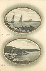 2 insets  TOWER OF REFUGE, DOUGLAS,//PORT SODERIC(now Port Soderick)
