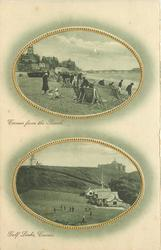 2 insets CROMER FROM THE BEACH//GOLF LINKS