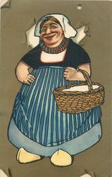 fat Dutch lady with basket