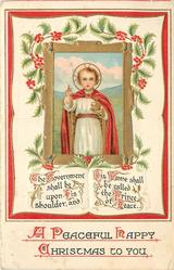 A PEACEFUL HAPPY CHRISTMAS TO YOU   inset of Jesus as child