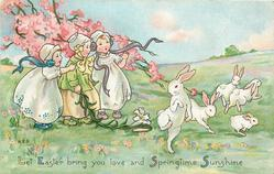 LET EASTER BRING YOU LOVE AND SPRINGTIME SUNSHINE  rabbits