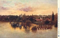 SUNSET ON THE RIVER, CAVERSHAM, NEAR READING