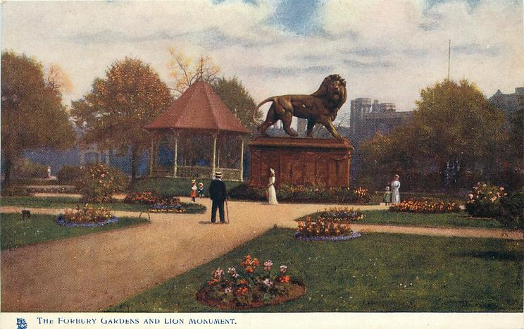 THE FORBURY GARDENS AND LION MONUMENT