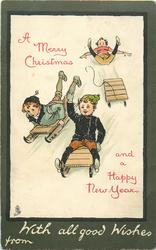 WITH ALL GOOD WISHES FROM  children toboggan