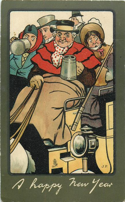 A HAPPY NEW YEAR  coachman & passengers drink