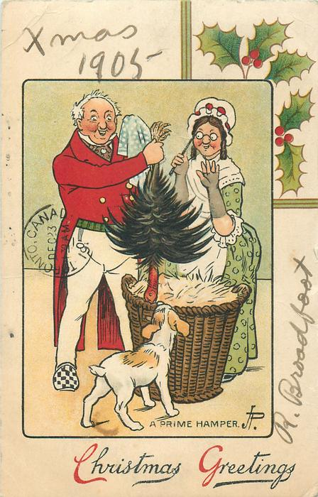 CHRISTMAS GREETINGS, A PRIME HAMPER