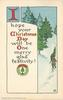 I HOPE YOUR CHRISTMAS DAY WILL BE ONE MERRY GLAD FESTIVITY!  rural winter inset