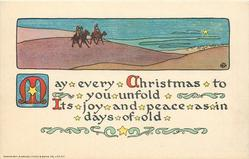 MAY EVERY CHRISTMAS TO YOU UNFOLD ITS JOYS AND PEACE AS IN DAYS OF OLD  desert inset