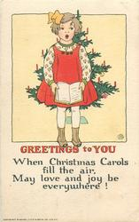 GREETINGS TO YOU, WHEN CHRISTMAS CAROLS FILL THE AIR, MAY LOVE AND JOY BE EVERYWHERE!