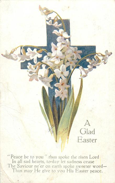 A GLAD EASTER  white flowers