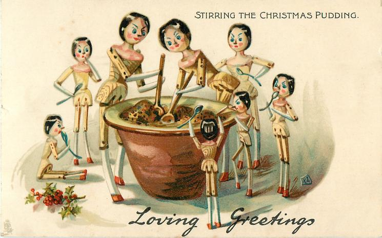 LOVING GREETINGS, STIRRING THE CHRISTMAS PUDDING