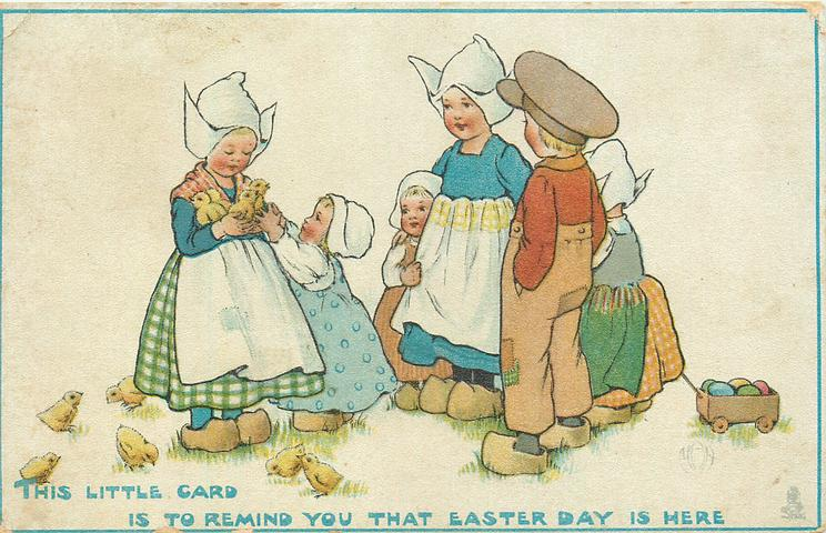 THIS LITTLE CARD IS TO REMIND YOU THAT EASTER DAY IS HERE