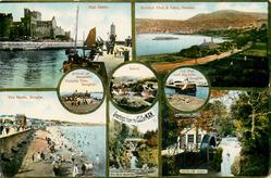 insets of scenes, upper left view PEEL CASTLE (MOORAGH PARK & LAKE, RAMSEY to right)