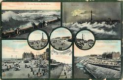 8 insets of scenes, upper left view ON THE TERRACE, NORTH SHORE
