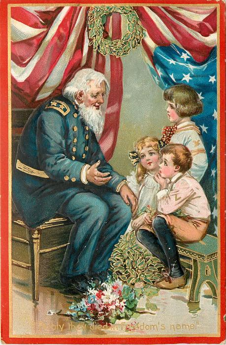 NOBLY THEY DIED IN FREEDOM'S NAME'  Veteran & three children